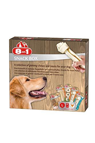 8in1 Snack-Box L für große Hunde, 5 x Premium Kauartikel / Leckerli, 414 g