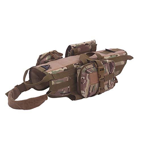 Taktische Kleidung Passen Zubehörtasche Kampfhundeweste Abnehmbarer Military Harness Medium Large Hunde...
