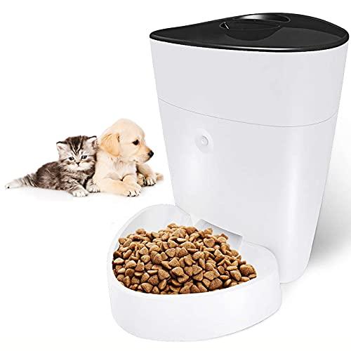 Automatischer Futterautomat für Katze , LXVY Futterautomat Katze mit Programmierbarer Portionskontrolle,...