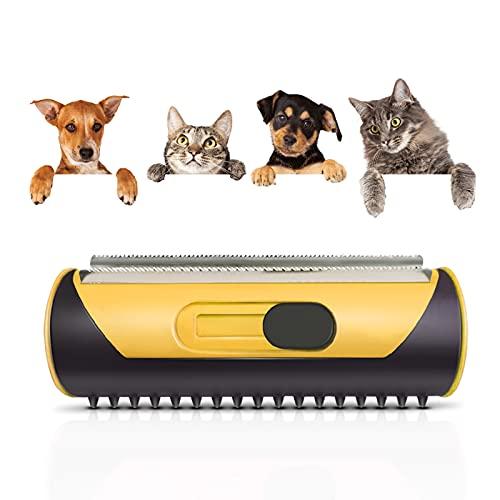 Haustier Hundebürste Katzenbürste, 3-in-1 Unterfell Und Enthaarungsbürste,Einfache Handhabung...