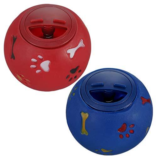 Gaosaili 2 Stücke Hundespielzeug Ball, Leckerli Spielzeug Ball Hundeball Hundespielball Pet Welpe...