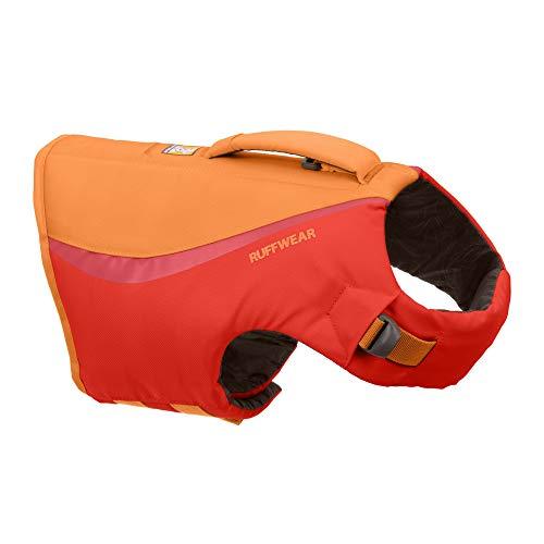Ruffwear Schwimmweste für Hunde, Mittelgroße Hunderassen, Größenverstellbar, Größe: M, Rot, Float...