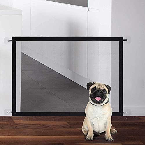Tragbar Hunde Türschutzgitter 72 * 110cm Treppenschutzgitter für Hunde Treppentor für Haustiere für...