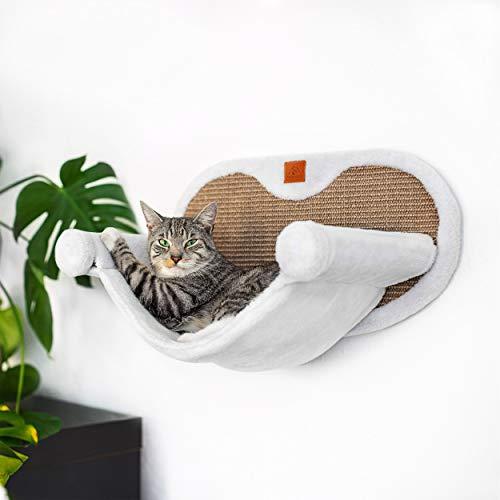 Pfotenolymp® Hängematte für Katze stabil mit Wandmontage für Katzen bis 10kg | Katzenhängematte...