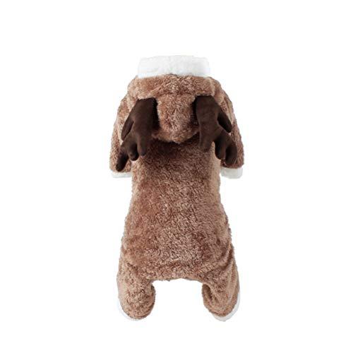 ULTECHNOVO Haustier Kostüm Hund Weihnachten Anzug Hund Elch Kostüm Hund Overall M