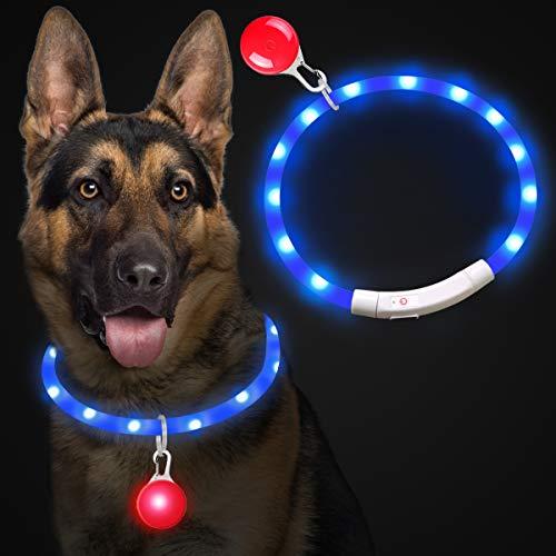 Theirsova Leuchthalsband Hund Aufladbar, LED Hundehalsband Leuchtend USB wiederaufladbar...