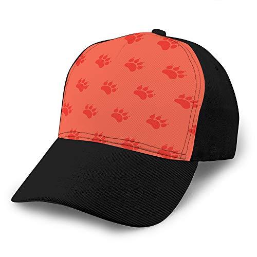 Baseballkappe für Katzen oder Hunde, unisex, mit Trägerrücken, nahtloses Muster, Tiermotiv,...