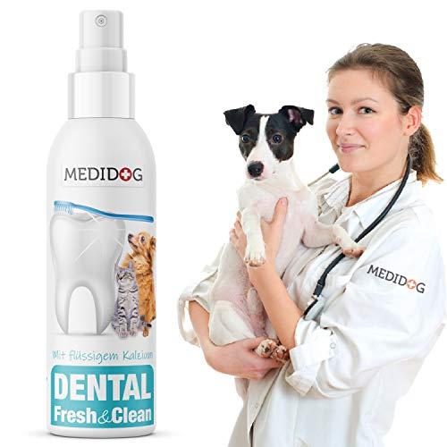 Medidog Dental Fresh&Clean Dentalspray für Hunde und Katzen zur Zahnpflege und Zahnreinigung I...