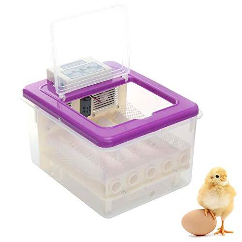 WANGIRL Digital 24 Eier Brutmaschine Vollautomatisch Bionisches Wasserbett Hühner Eier Brutgerät Eier...