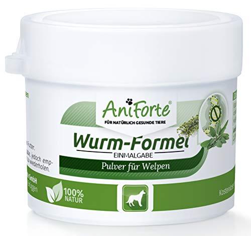 AniForte Wurm-Formel 20g für Welpen ab der 6. Woche, Natürliche Einmalgabe Bei und nach Wurmbefall,...