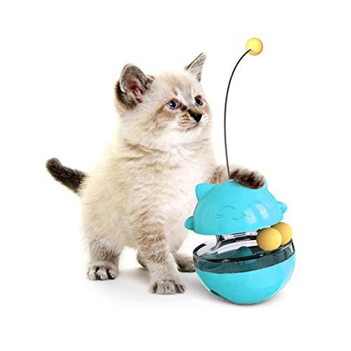 Sunshine smile Spielzeug Katze Intelligenzspielzeug,Spiels Federspielzeug,360 ° drehbar,Interaktives...