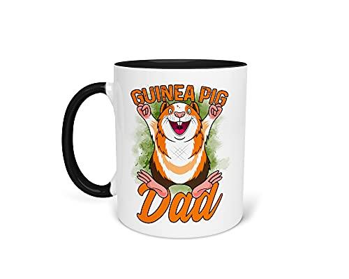 Tasse Kaffeetasse mit Meerschweinchen - Beidseitiger Druck - Kleintiere - Lustiger Spruch - Geschenkidee