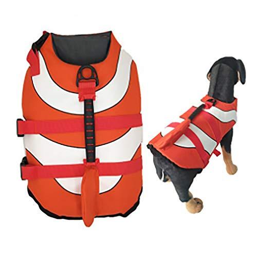 Olgaa Hundeschwimmweste für den Sommer, Schwimmweste mit hervorragendem Auftrieb und Rettungsgriff für...