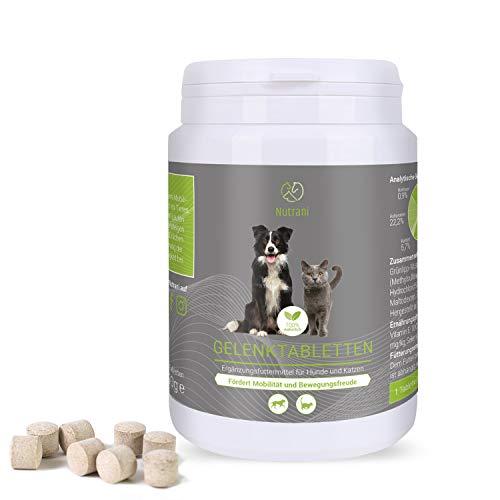 Nutrani Gelenktabletten für Hunde und Katzen | 120 Stück – 100% natürliches Ergänzungsfuttermittel...