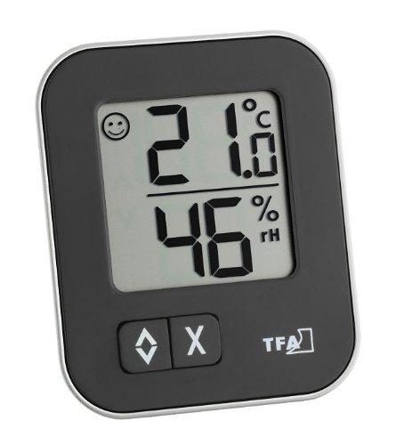 TFA Dostmann Moxx digitales Thermo-Hygrometer, 30.5026.01, zur Raumklimakontrolle, Überwachung der...