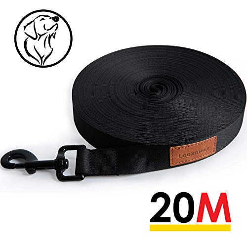 Looxmeer Schleppleine für Hunde, 10m / 20m Robuste Hundeleine Übungs- & Trainingsleine mit...