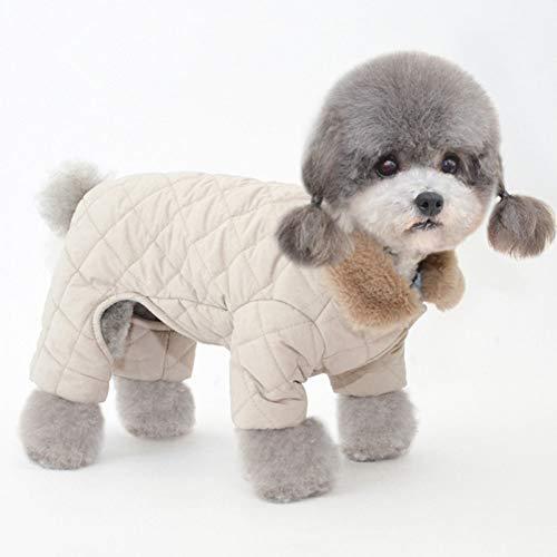 RQJOPE Haustierkleidung Hundekleidung Winter Dog Jumpsuit vierbeinig Warm Dog Kleidung Halsband Pet...