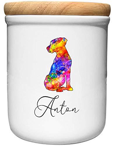 Cadouri Keramik Leckerli-Dose Labrador » personalisiert mit Name deines Hundes «┊Snackdose Keksdose...