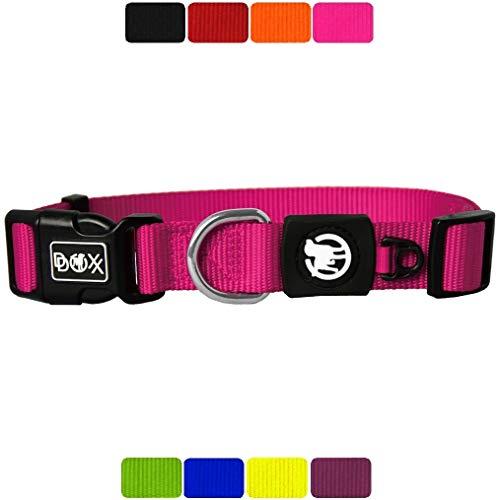 DDOXX Hundehalsband Nylon, verstellbar | viele Farben & Größen | für kleine & große Hunde | Halsband...