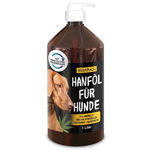 MeerBach Animal 1 Liter Hanföl für Tiere in Premiumqualität• 100% reines Hanföl für Hunde, Katzen...