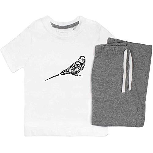 Azeeda 9-10 Jahre 'Wellensittich' Kinder Nachtwäsche / Pyjama Set (KP00041200)