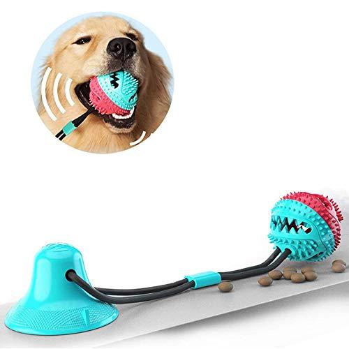 JahyElec Zahnbürsten-Stick, Hundespielzeug mit Saugnapf, Hundezahnbürste Kauspielzeug, Ball...