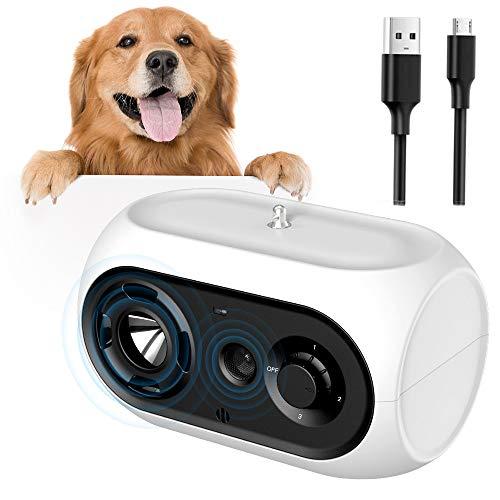 ULPEAK Antibell für Hunde, Hunde Ultraschall Anti Bellgerät Bellenstopper Antibellhalsband, Antibell...