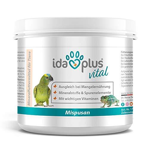 Ida Plus - Mispusan Pulver 200 g - Mineralfuttermittel mit Vitamin D3, Calcium & Spurenelementen für...