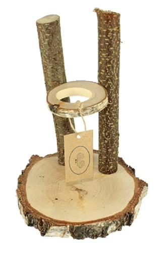 MEERSCHWEINEFARM G. Trinkstation aus Echtholz Classic® - kein Schmutz im Wassernapf (Chinchilla 320ml)