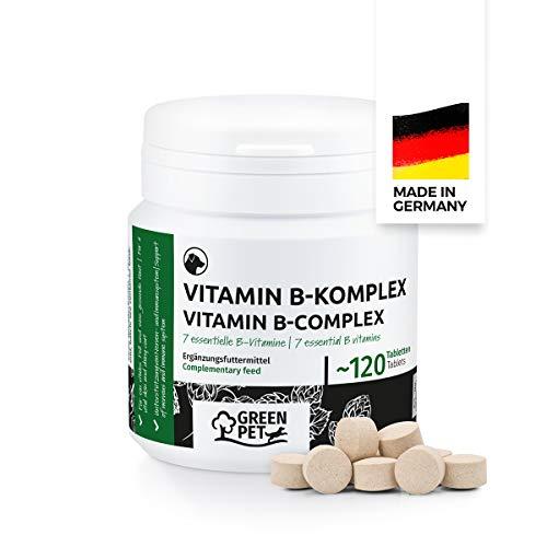GreenPet Vitamin B Komplex Hund - Multivitamin mit B1, B2, B3, B5, B6, B7, B9, B12, Biotin & Folsäure,...