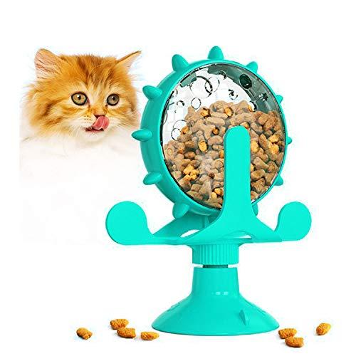 Generic0 Katzenspielzeug,Nahrungsspender mit Saugnapfboden und undichtem Loch, verwendet für...