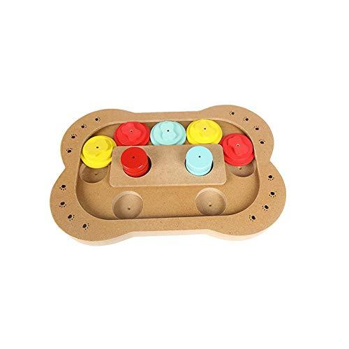 Hundespielzeug aus Holz für kleine Hunde, langsames Fressen, erhöht den IQ, interaktives...