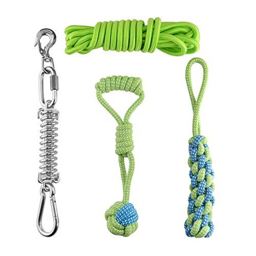 cheerfulus-1 Hunde Frühling Pole Seil Spielzeuge, Starkes Hundeseilspielzeug, hängendes Übungsseil...