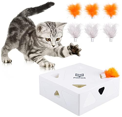G.C Interaktives Katzenspielzeug Elektrisch Katzen Spielezeug Feder automatisch Federspielzeug...