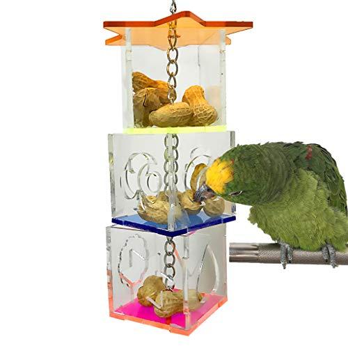 NEVRTP Parrot Bird Buster Futterbox Kreative Hanging Treat Futtersuche Spielzeug Nymphensittich Kleine...