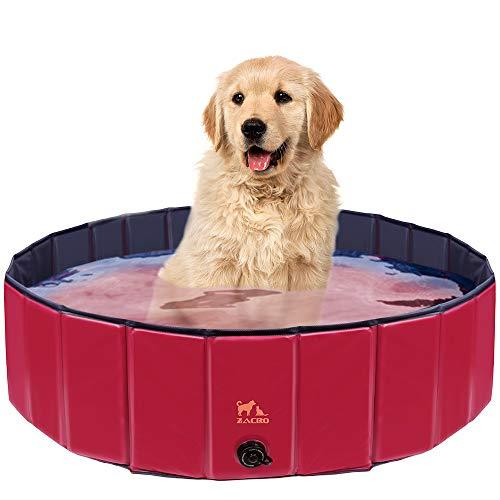 Zacro 120cm Hundepool Haustierpool Planschbecken Swimmingpool für die Haustier wie Hunde, Katzen, 120 *...