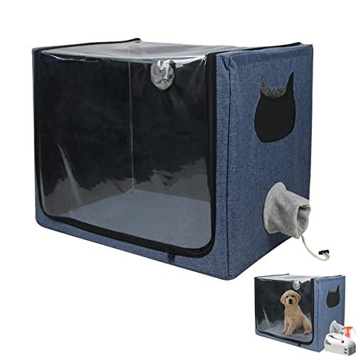 EnweKapu Tierlaufstall Tragbarer, Sauerstoffbox für Haustiere, Faltbarer Welpenlaufstall, Trockenbox...