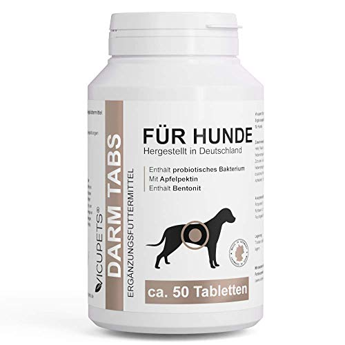 Vicupets Kräuter Darm Tabs für Hunde I Probiotisches Bakterium zur Unterstützung der Verdauung I 100 g...