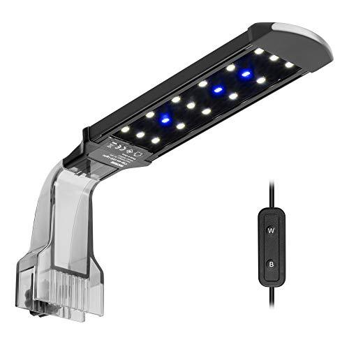 NICREW LED Aquarium Beleuchtung Clip, Aquarienlampe für einen Pflanzenwuchs mit Tageslicht und Mondlicht...