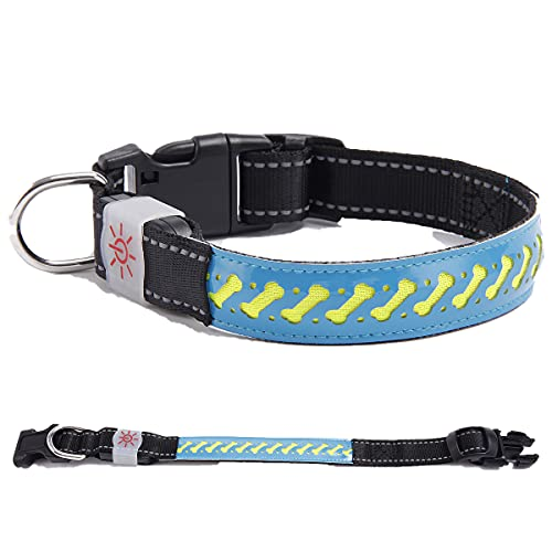 SWETIY LED Leuchthalsband, USB Wiederaufladbar Hundehalsband Längenverstellbareres Leuchtendes Hunde...