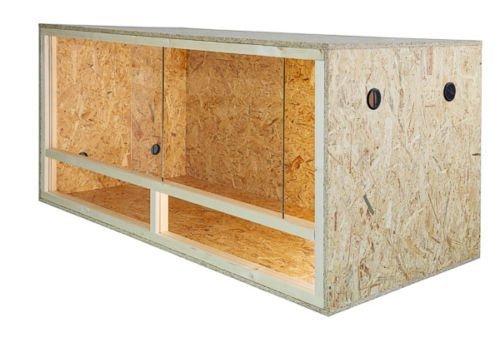 REPITERRA Terrarium für Reptilien & Amphibien, Holzterrarium mit Seitenbelüftung 100x60x60 cm