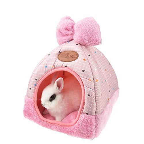 FLAdorepet Kaninchen- und Meerschweinchenhaus-Bett, süßes Kleintier-Haustier, Winter, warm,...