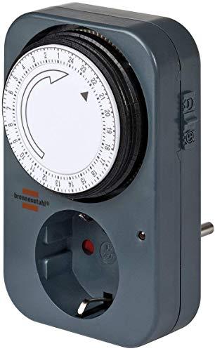 Brennenstuhl Zeitschaltuhr MZ 20, mechanische Timer-Steckdose (Tages-Zeitschaltuhr mit erhöhtem...