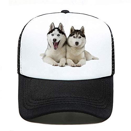 Baseball Kappe Zwei Huskys Hunde lustig drucken Baseball Cap Casual Männer Frauen Eltern-Kind Hüte Mesh...