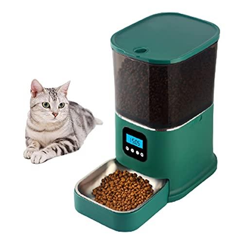 KDMB Futterautomat für Haustiere Intelligenter Futterspender mit Visualisierung Körnereimer...