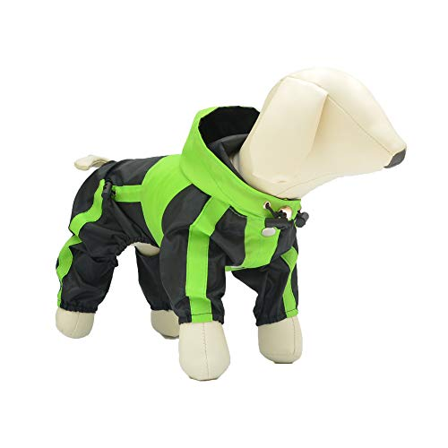 lovelonglong Hunde Regenmantel mit Hoodie, Atmungsaktive Regenjacke mit Vier Beinen im Freien...