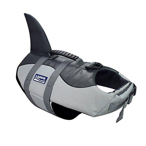 Aokay Pet Hundeschwimmweste Schwimmweste Badeanzug (L, Grau)