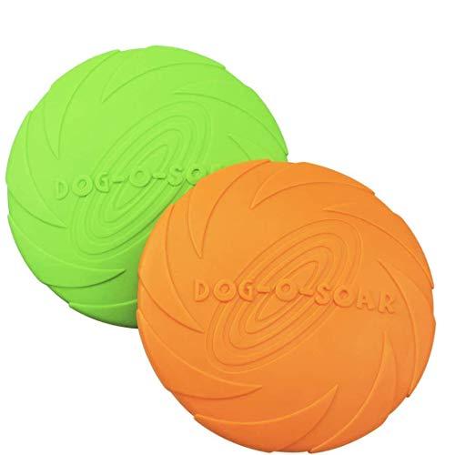 HIQE-FL Dog Frisbee Disc,Weiche Hunde Frisbee,Gummi Frisbee,Hundefrisbee,Hundespielzeug...