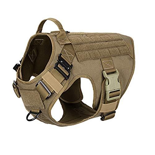 GXFCQKDSZX Hundemantel Arbeit Hundeweste mit 2X Metallschnalle, mit Griffen Frontclip Dog Military...