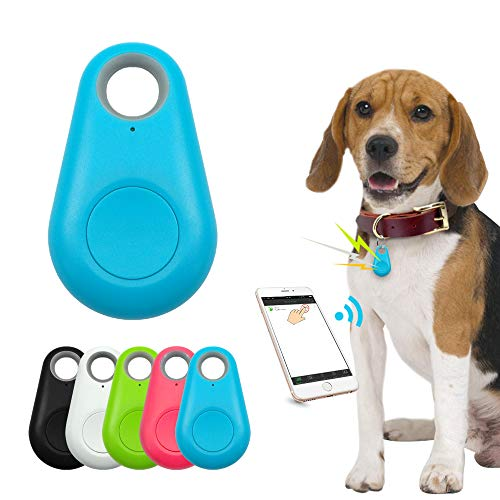 JIAHAO Smart Mini GPS Tracker Anti-Verlust Wasserdicht Bluetooth Tracer für Haustier Hund Katze...